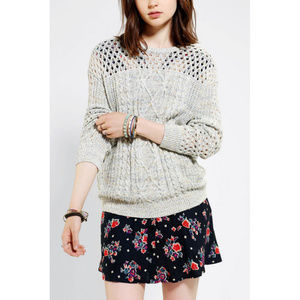 Urban Outfitters Marled Cable-knit Sweater